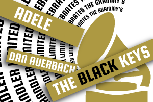 Chandler Limited 2013 55th Grammy Award Winners, Adele, Dan Auerbach, The Black Keys