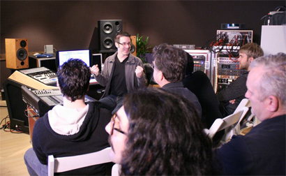 Ryan Hewitt during the Studio Prodigy Master Class Series: Hybrid Mixing Techniques 2.23.2013