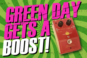 Green Day Chandler Limited Little Devil Colored Boost Guitar Pedal