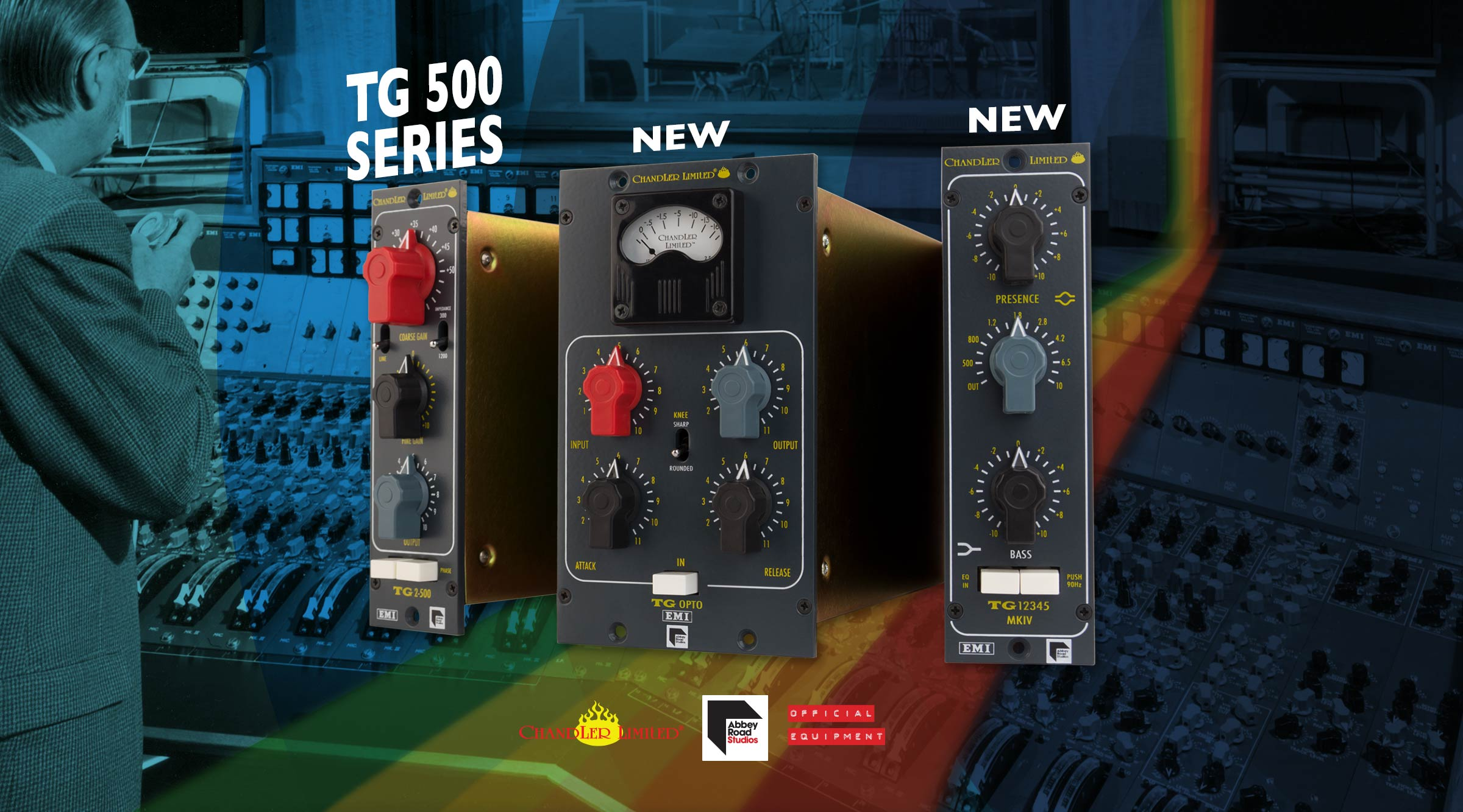 Chandler Limited TG 500 Series - TG Opto TG12345 MKIV EQ - EMI Abbey Road Studios