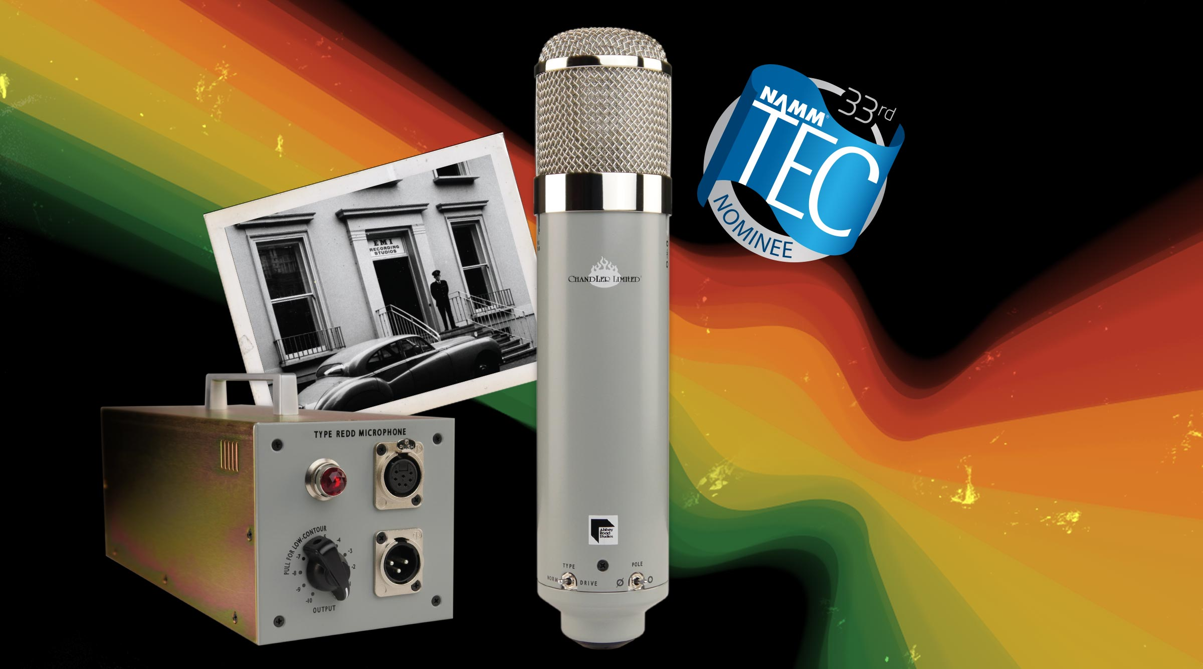 Chandler Limited REDD Microphone EMI Abbey Road Studios NAMM TEC Awards Nomination