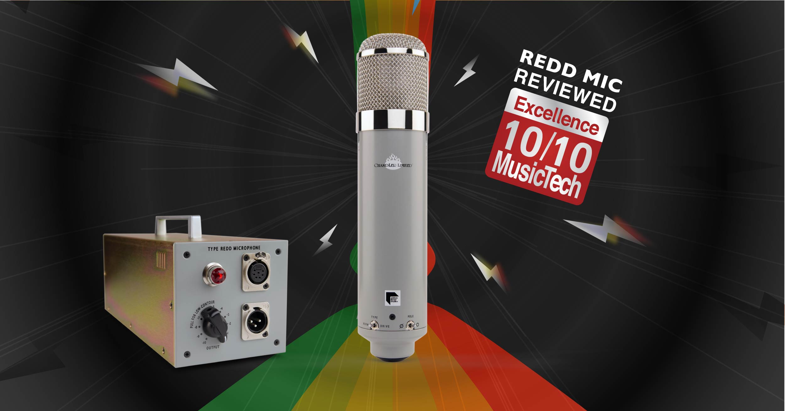 Chandler Limited REDD Microphone Review MusicTech Magazine October 2017 - EMI Abbey Road Studios